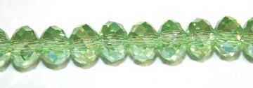 150pcs x 3mm Light green with AB coating faceted glass rondelle beads -- S.G06 -- 3005650